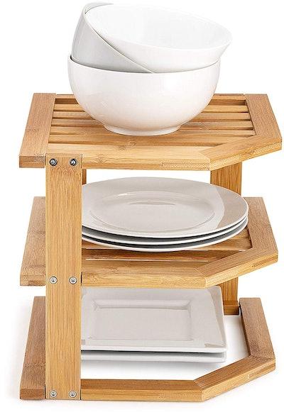 Bambüsi 3-Tier Bamboo Kitchen Shelf Organizer