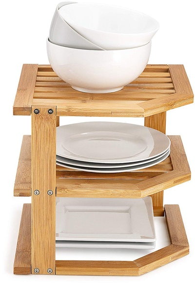 Bambüsi 3-Tier Bamboo Kitchen Shelf Organizer