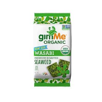 gimME Organic Premium Roasted Seaweed (Pack of 12)