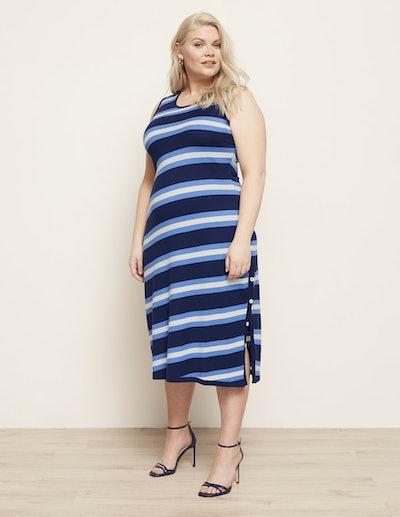 Manon Baptiste Sleeveless Striped Fine Knit Dress