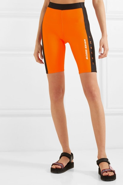 Waves Satin-Jersey Shorts