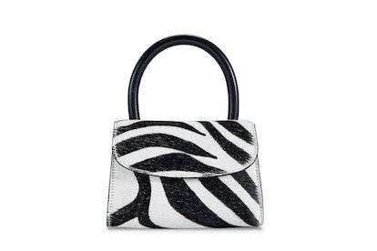 Mini Zebra Print Pony Hair Leather