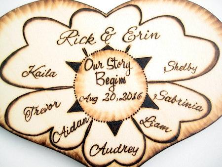 Blended Family Wedding Cake Topper,