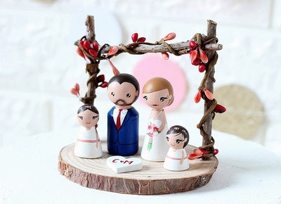 Peg Doll Family Topper