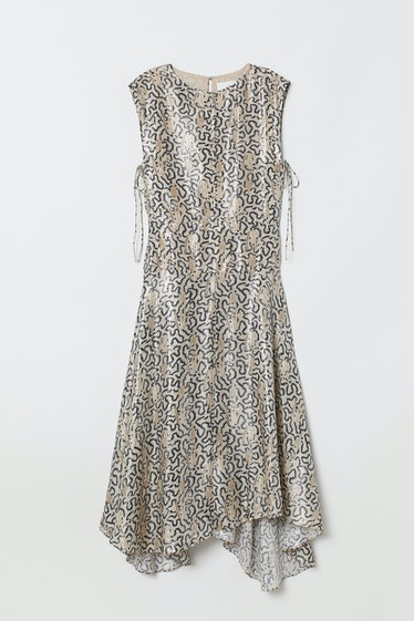 Patterned Silk-blend Dress
