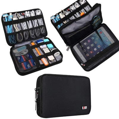 BUBM Double Layer Electronic Accessories Organizer