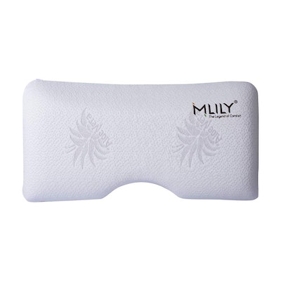 MLILY Serenity Memory Foam Pillow with Removable and Washable Aloe Vera Infused Cover