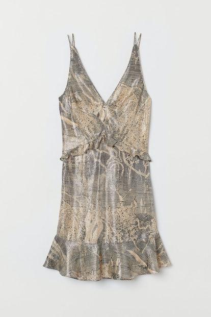 Short Silk-Blend Dress