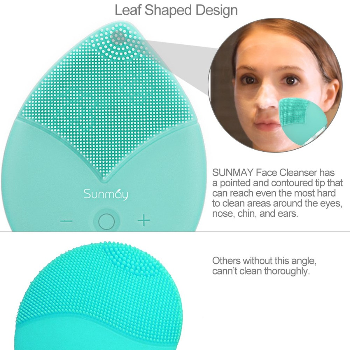 SUNMAY Sonic Facial Cleansing Brush