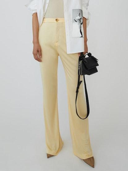 Shiny Trousers Vanilla Yellow
