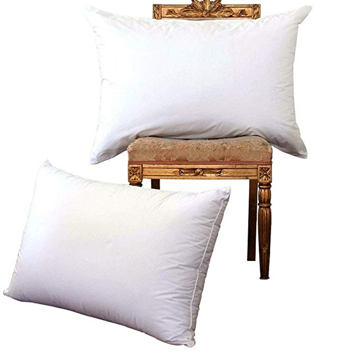 NP Luxury White Goose Down Bed Pillows (Set of 2)