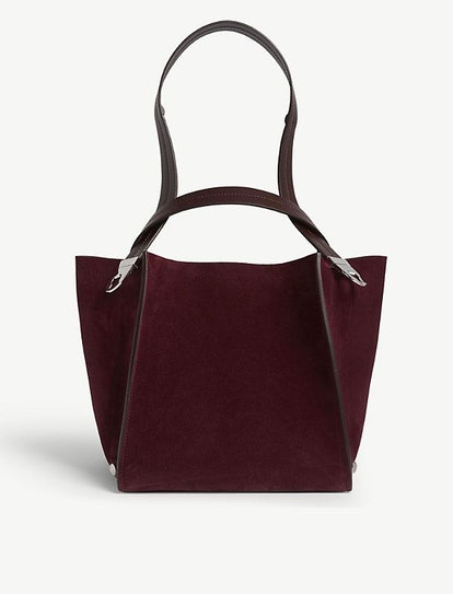 Cube Leather And Suede Tote Bag