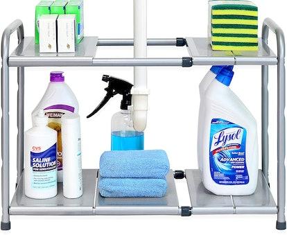 SimpleHouseware Under Sink Expandable Shelf Organizer Rack