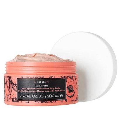 Korres Peach Dual Hyaluronic Souffle Body Cream