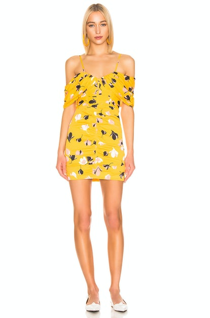 Off Shoulder Printed Mini Dress