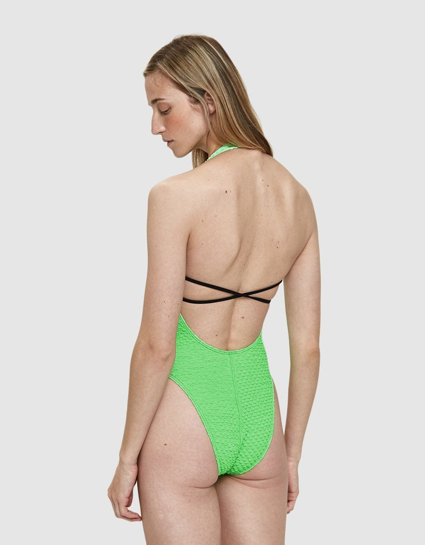 Ana Uno Puckered Swimsuit