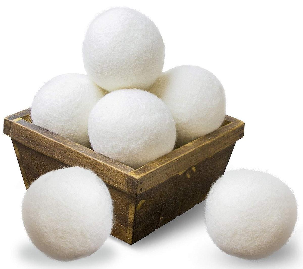 SnugPad Wool Dryer Balls (6 Pack)