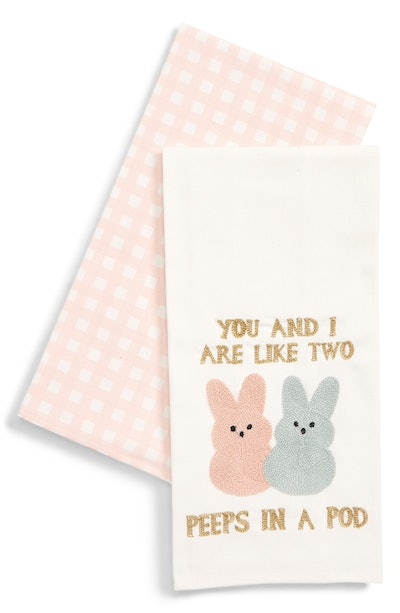 Levtex Peeps in a Pod Set of 2 Dishtowels