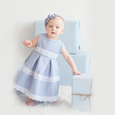 Linen Flower Girl Dress