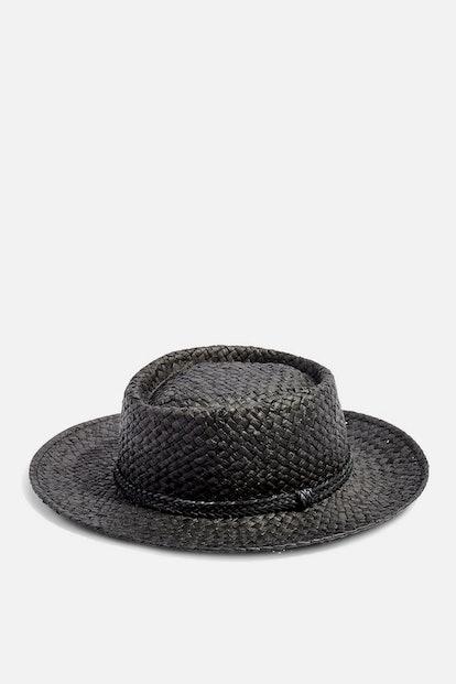 Straw Flat Top Hat