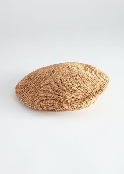 Woven Straw Beret
