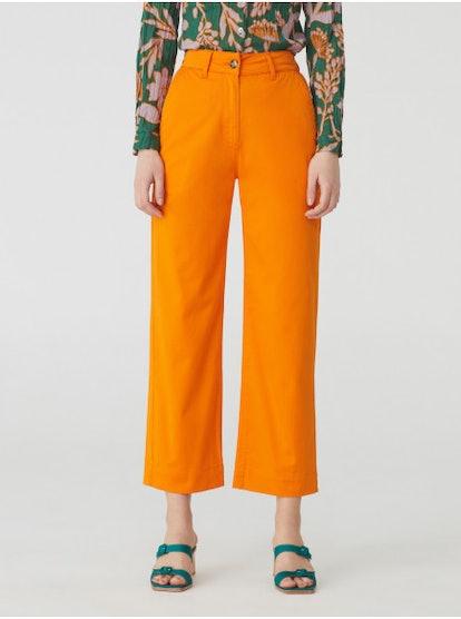 High Waist Chino Trousers