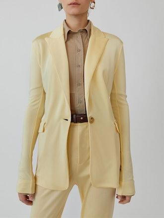 Jersey Blazer Vanilla Yellow