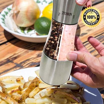 Loritada Manual Dual Salt And Pepper Grinder