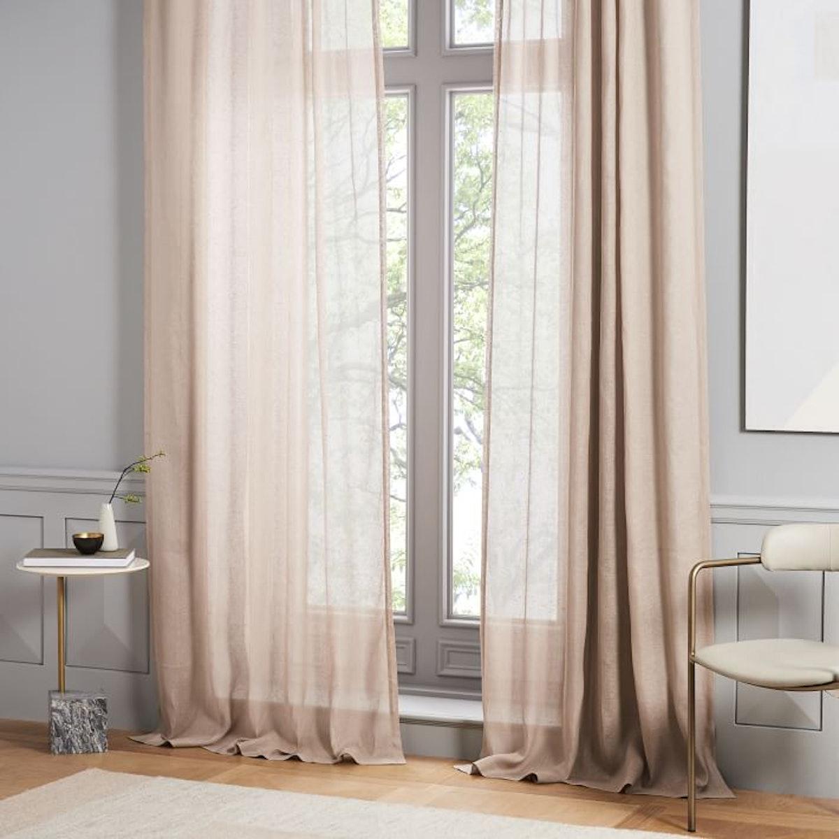 Sheer Belgian Flax Linen Curtain