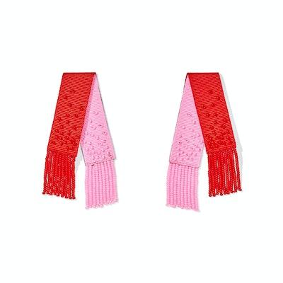 Beaded Mambo Earrings in Rougie