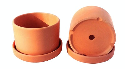 Terra-cotta Planters With Individual Trays, 4.5 inches (2-Pack)