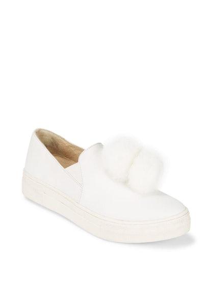 Gizmo Faux Fur Pom-Pom Sneakers