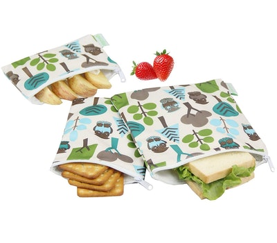 Wegreeco Reusable Sandwich & Snack Bags, Set of 3