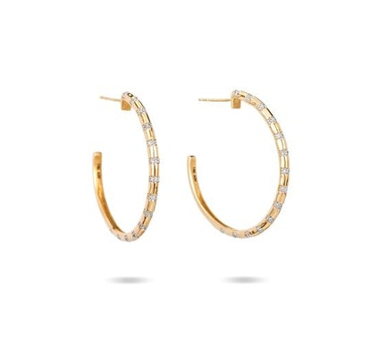 Large Diamond Strip Hoops