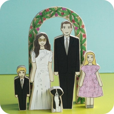 Custom Family Wedding Cake Topper