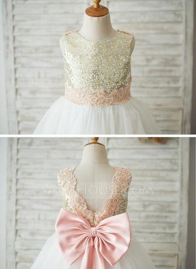 Princess Knee-length Flower Girl Dress