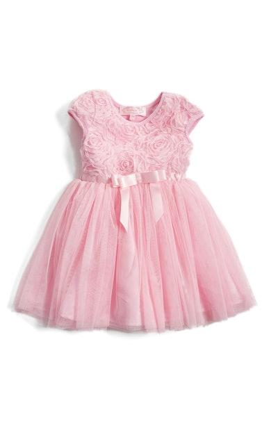 Short Sleeve Tulle Dress