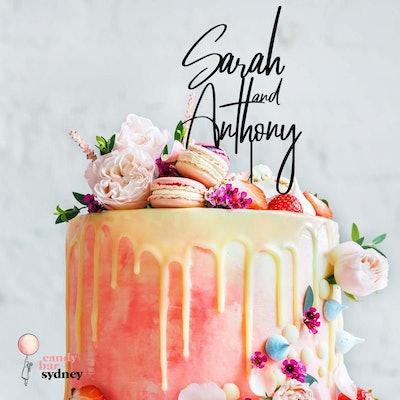 Names Wedding Cake Topper