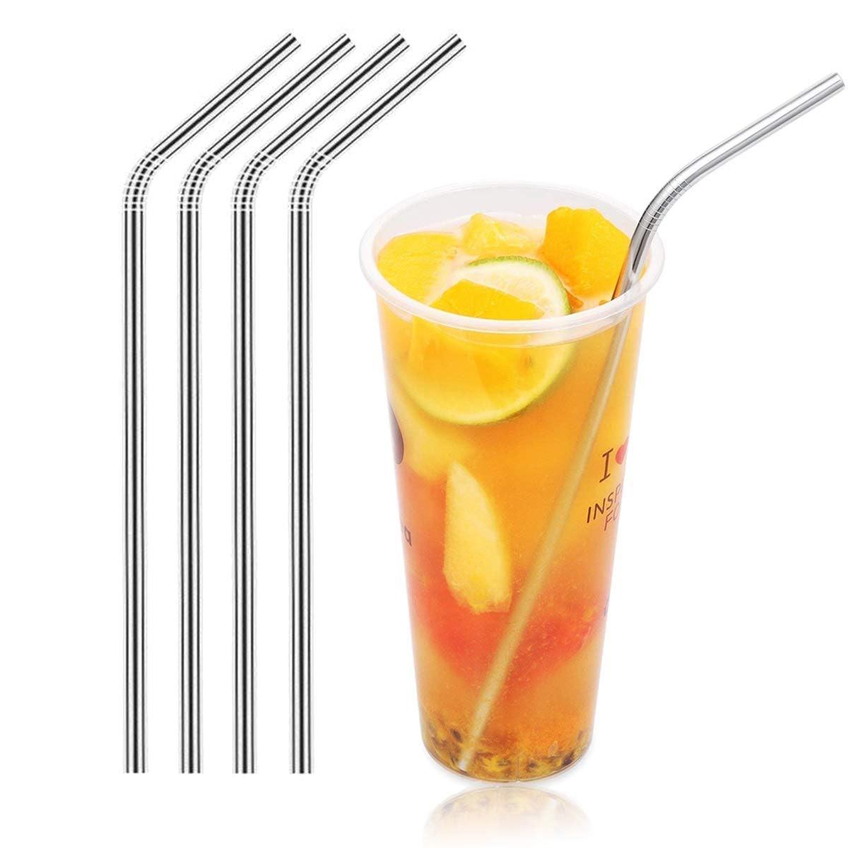 Magnum Steel Stainless Steel Drinking Straws (4 Pack)