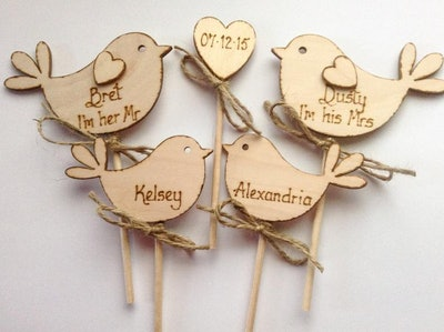 Personalised Family Wedding Cake Topper