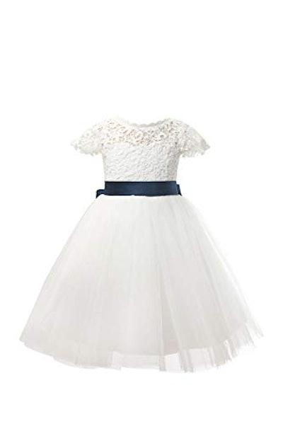 Cap Sleeves Flower Girl Dress