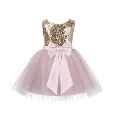 Sequin Flower Girl Dress