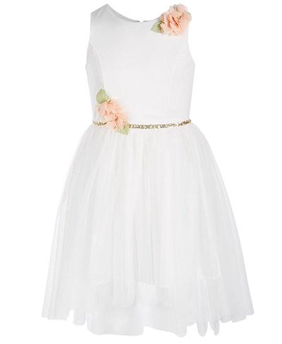 Floral-Trim Ballerina Dress