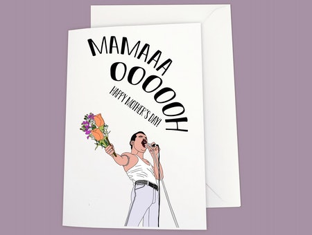 Freddie Mercury Mama Mother's Day Card