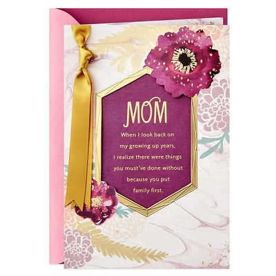 Mother's Day Card (You Put Family First)