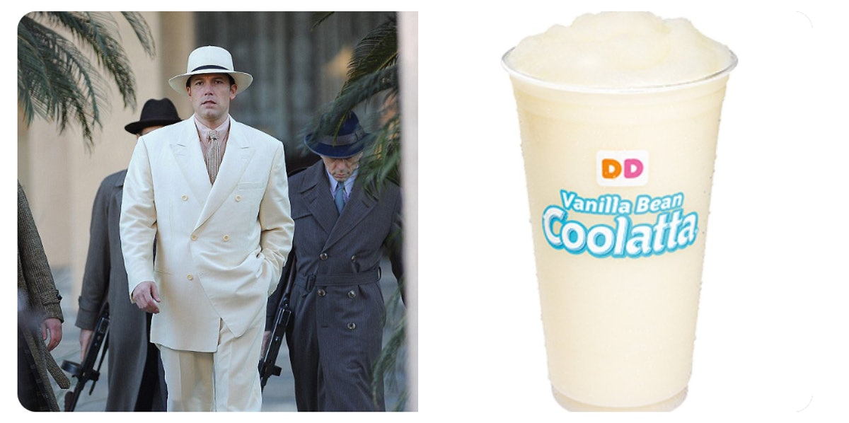 These Photos Of Ben Affleck As Dunkin' Beverages Are Hilariously On Point
