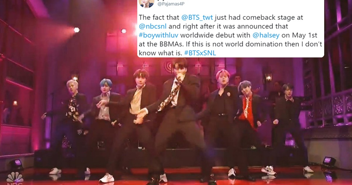 These Tweets About BTS' BBMAs Performance Announcement During 'SNL' Are So, So Excited