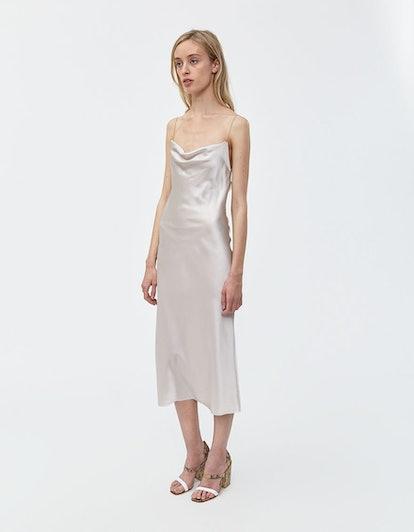 Della Slip Dress in Ash