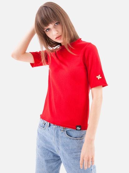 Summerweight Silk Short-Sleeve Sweater