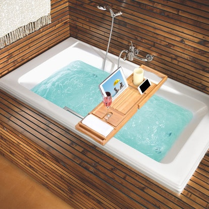 LANGRIA Bamboo Bathtub Caddy